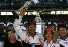 1995 Brickyard 400 winner Dale Earnhardt. (NASCAR Photo)