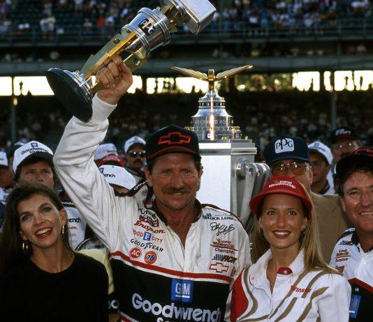 1995 Brickyard 400 winner Dale Earnhardt. (NASCAR Photo)