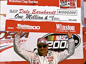 Dale Earnhardt after winning his finale NASCAR Cup Series event at Talladega Superspeedway in 2000. (NASCAR Photo)