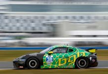 Thomas Collingwood and BGB Motorsports topped the IMSA Michelin Pilot Challenge testing charts at Daytona Int'l Speedway. (IMSA Photo)