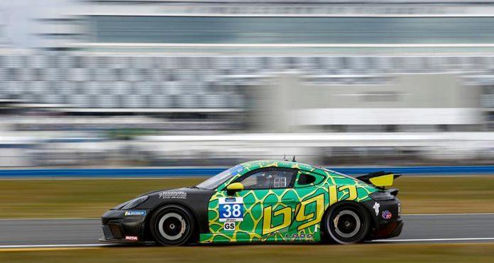 Thomas Collingwood and BGB Motorsports topped the IMSA Michelin Pilot Challenge testing charts at Daytona Int'l Speedway. (IMSA Photo)