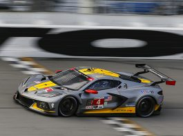 Corvette Racing's No. 4 driven by Alexander Sims and Nick Tandy won the GT Le Mans portion of the Motul Pole Award 100 on Sunday. (IMSA Photo)