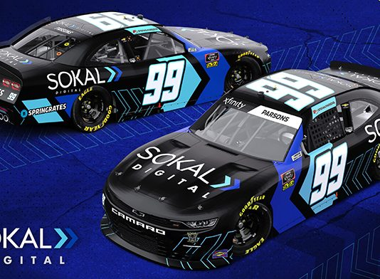 Sokal Media Group will sponsor Stefan Parsons during the NASCAR Xfinity Series opener at Daytona Int'l Speedway.