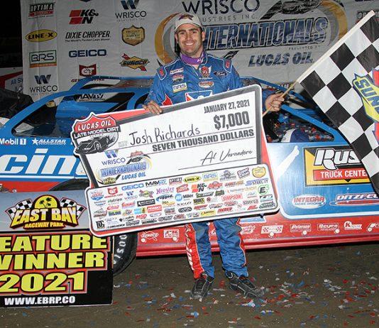 Josh Richards earned his first Lucas Oil Late Model Dirt Series win of the year on Thursday night. (Jim Denhamer Photo)