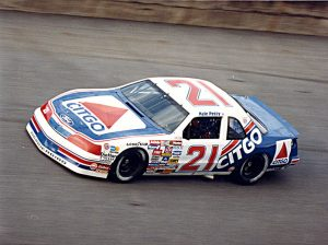 Kyle Petty at the wheel of the Wood Brothers No. 21. (NASCAR Photo)