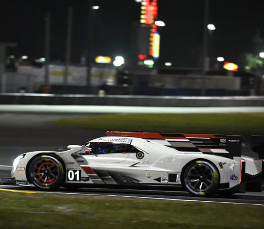 The No. 01 Chip Ganassi Racing Cadillac DPi was leading the Rolex 24 after 16 hours of competition. (IMSA Photo)