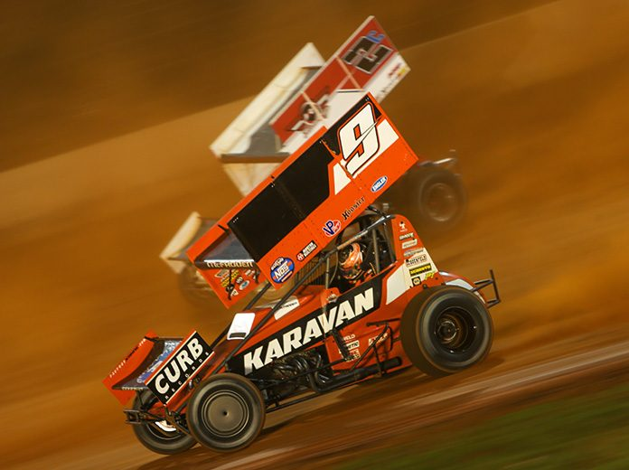 Kasey Kahne Racing's No. 9 sprint car will hit the road again with the World of Outlaws NOS Energy Drink Sprint Car Series. (Adam Fenwick Photo)