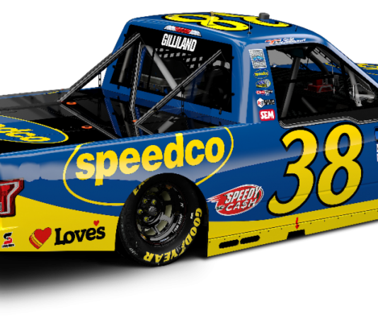 Speedco is back as a sponsor of Front Row Motorsports and Todd Gilliland.