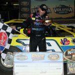 Tim McCreadie in victory lane Monday at Volusia Speedway Park. (Jim Denhamer Photo)