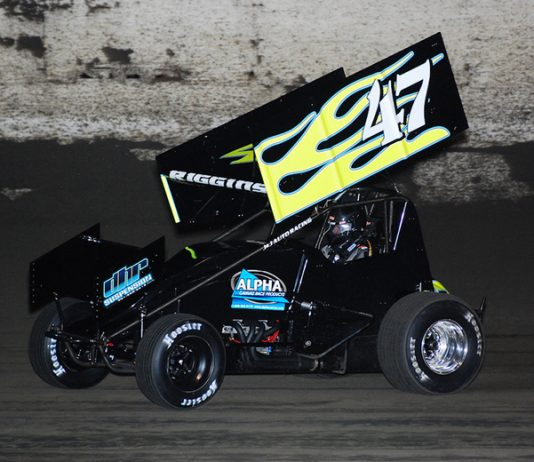 Eric Riggins Jr. was fastest in King of the 360s practice Wednesday at East Bay Raceway Park. (David Sink Photo)