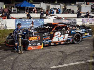 Kody Swanson captured the pro late model championship during the World Series of Asphalt Stock Car Racing. (Jason Reasin Photo)