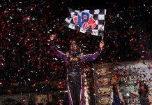Brandon Overton earned his first DIRTcar Nationals triumph on Friday night. (Jim Denhamer Photo)