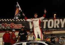 Stephen Nasse won Saturday's Orange Blossom 100 at New Smyrna Speedway. (Jim DuPont Photo)