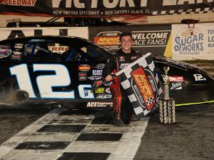 Derek Griffith clinched his second-straight World Series of Asphalt Stock Car Racing super late model title on Saturday night. (Jim DuPont Photo)