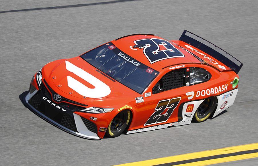 Starting sixth in his fourth Daytona 500, Bubba Wallace in the No. 23 23XI Racing Toyota. (HHP/Harold Hinson Photo)