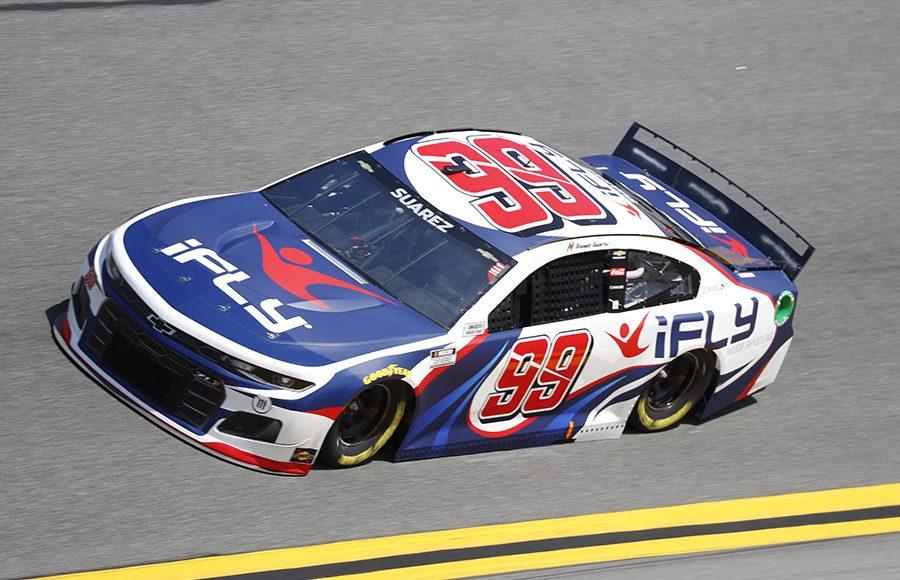 Starting 15th in his fourth Daytona 500, Daniel Suarez in the No. 99 Trackhouse Racing Chevrolet. (HHP/Harold Hinson Photo)