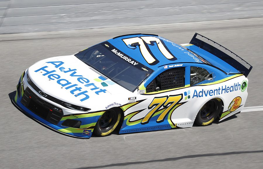 Starting 19th in his 18th Daytona 500, Jamie McMurray in the No. 77 Spire Motorsports Chevrolet. (HHP/Harold Hinson Photo)
