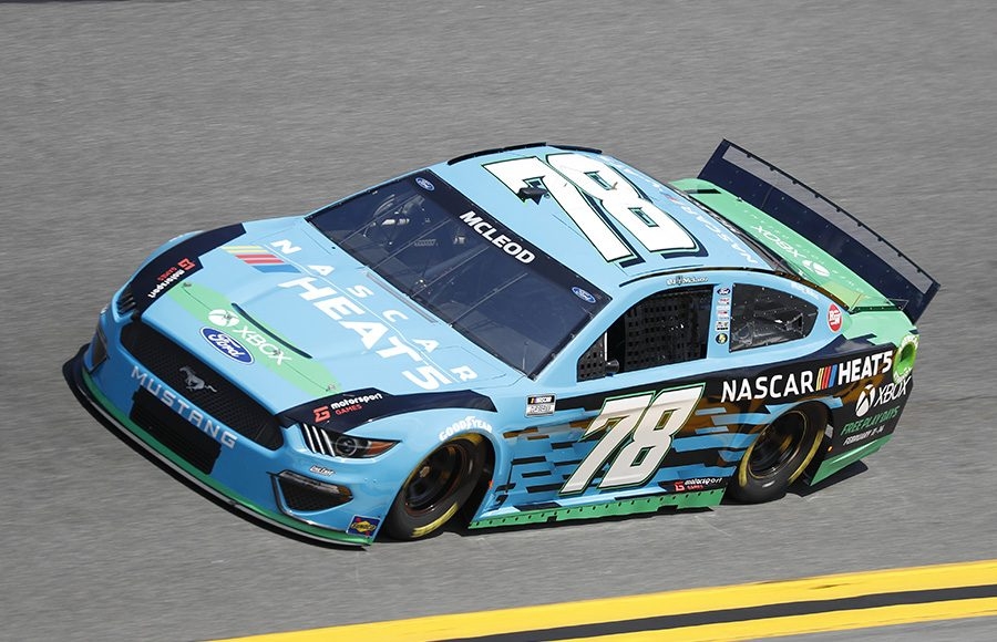 Starting 38th in his third Daytona 500, B.J. McLeod in the No. 78 Live Fast Motorsports Ford. (HHP/Harold Hinson Photo)