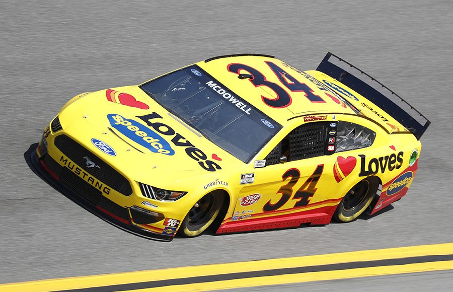 Starting 17th in his 10th Daytona 500, Michael McDowell in the No. 34 Front Row Motorsports Ford. (HHP/Harold Hinson Photo)