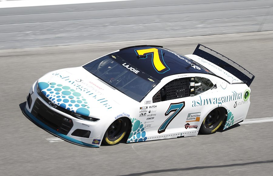 Starting 16th in his fifth Daytona 500, Corey LaJoie in the No. 7 Spire Motorsports Chevrolet. (HHP/Harold Hinson Photo)