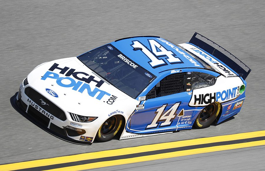 Starting 30th in his first Daytona 500, Chase Briscoe in the No. 14 Stewart-Haas Racing Ford. (HHP/Harold Hinson Photo)
