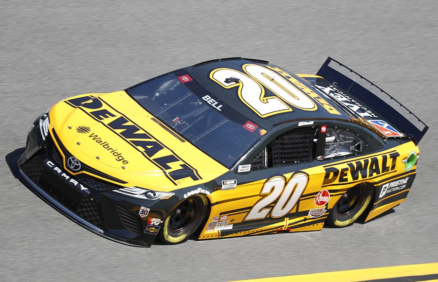 Starting fifth in his second Daytona 500, Christopher Bell in the No. 20 Joe Gibbs Racing Toyota. (HHP/Harold Hinson Photo)