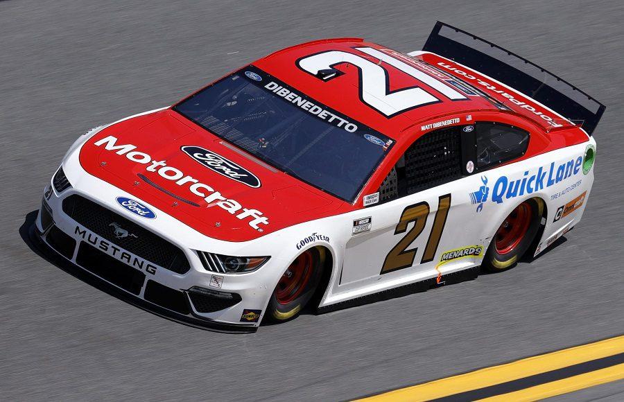 Starting 23rd in his sixth Daytona 500, Matt DiBenedetto in the No. 21 Wood Brothers Racing Ford. (NASCAR/Getty Images Photo)