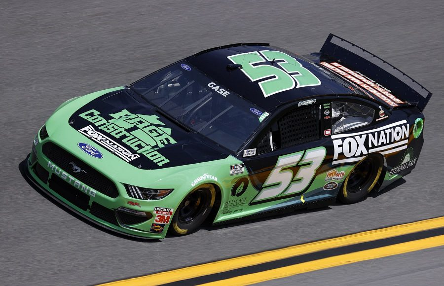 Starting 28th in his third Daytona 500, Joey Gase in the No. 53 Rick Ware Racing Ford. (NASCAR/Getty Images Photo)