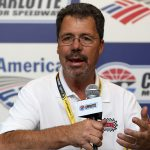 11 October 2013 - Ernie Irvan during media availability at Charlotte Motor Speedway. (HHP/Christa L Thomas)