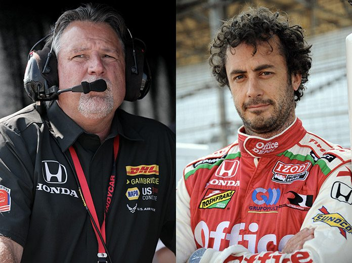 Michael Andretti (left) and Michel Jourdain (right) have teamed up to field an entry in the Super Copa Championship. (IndyCar Photos)