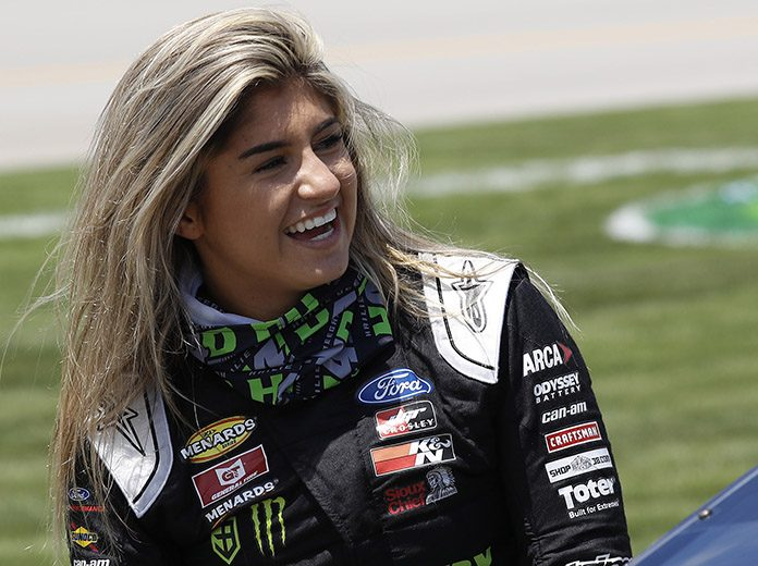 Hailie Deegan will lean on a pair of veteran voices to help guide her during her rookie NASCAR Camping World Truck Series season. (HHP/Harold Hinson Photo)