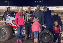 Joshua Shipley in victory lane at Arizona Speedway. (ASCS photo)