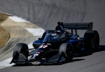 Romain Grosjean during testing at Barber Motorsports Park in Alabama. (IndyCar photo)