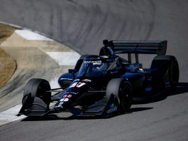 Romain Grosjean during testing at Barber Motorsports Park in Alabama. (IndyCar photo)