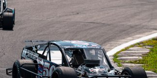 Matt Kimball is hoping to broaden his horizons by competing in the Tri Track Open Modified Series this year. (Tom Morris Photo)