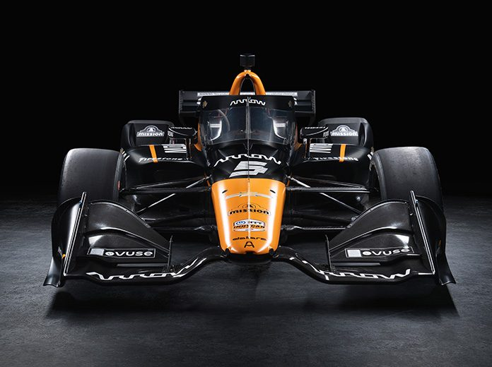 Pato O'Ward's No. 5 will carry the Arrow McLaren colors this year for Arrow McLaren SP.