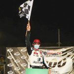 Sammy Smith earned his first ARCA Menards Series East win Saturday at Five Flags Speedway. (Morgan Givens/ARCA Racing)