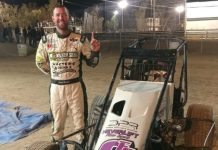 David Prickett won Saturday's Western Midget Racing event at Adobe Mountain Speedway.