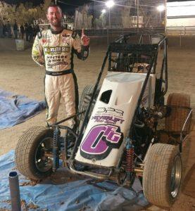 David Prickett won Saturday's Western Midget Racing event at Adobe Mountain Speedway.