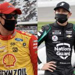 Joey Logano (left) and Kyle Larson (right) have both joined the field for the Bristol Dirt Nationals later this month. (HHP Photos)