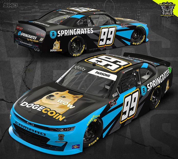 Dogecoin will jump on board with Stefan Parson this weekend at Las Vegas Motor Speedway.