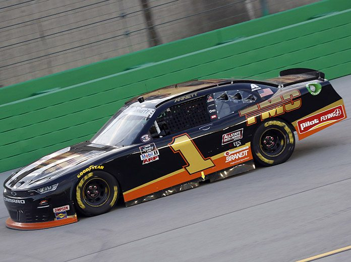 Harold Annett, the father of NASCAR Xfinity Series driver Michael Annett (pictured) and the owner of TMC Transportation, has died. (HHP/Harold Hinson Photo)