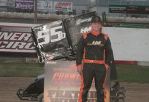 Dawson Hammes was the winner in the Open 500 Outlaw Kart class Sunday at Delta Speedway. (Cleveland Digital Imagery)