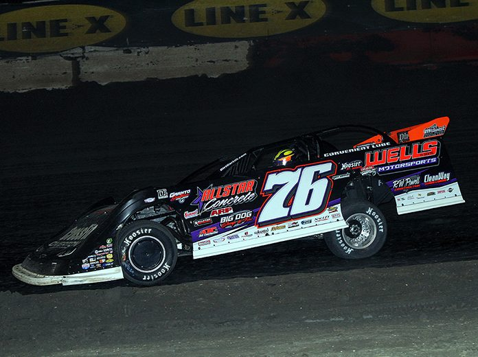 Brandon Overton, shown here in January, won Sunday's March Madness feature at Cherokee Speedway. (Jim Denhamer Photo)