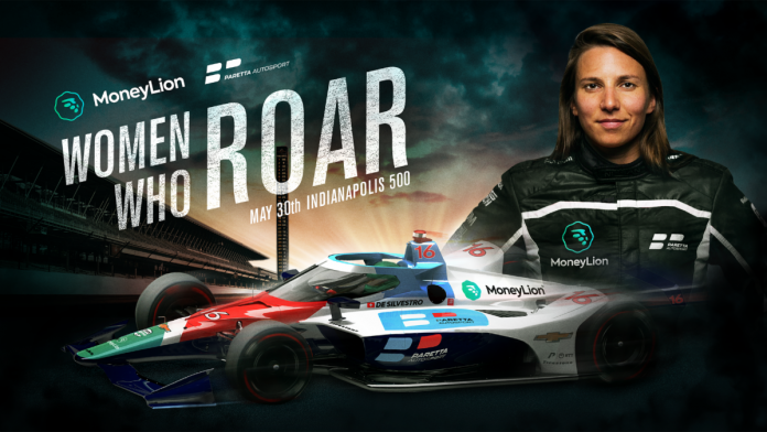 MoneyLion has signed on to sponsor Simona de Silvestro and Paretta Autosport during the upcoming Indianapolis 500.