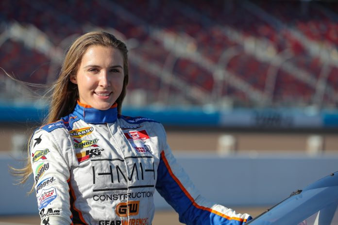 Bridget Burgess will run the full ARCA Menards Series West schedule this year with sponsorship from HMH Construction.