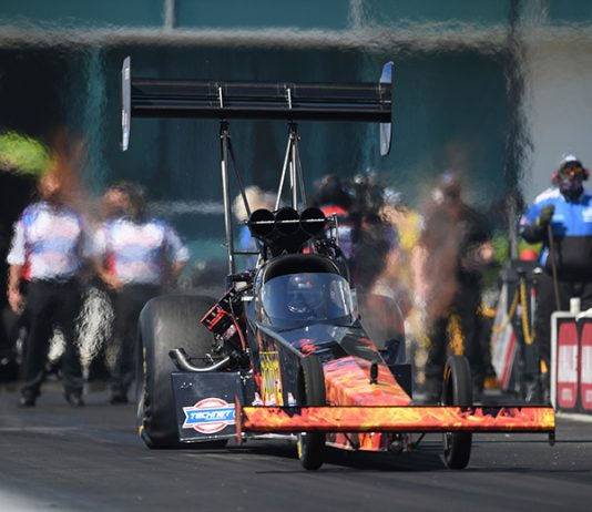Josh Hart shocked the Top Fuel field with a victory in the Gatornationals on Sunday. (Jerry Foss/NHRA Photo)