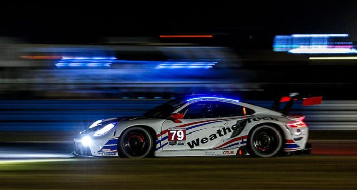 The No. 79 WeatherTech Porsche won the GTLM class during the 12 Hours of Sebring. (IMSA photo)