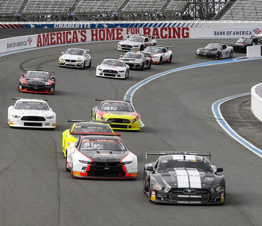 Oscar Teran leads the Trans-Am Series field Sunday at Charlotte Motor Speedway.