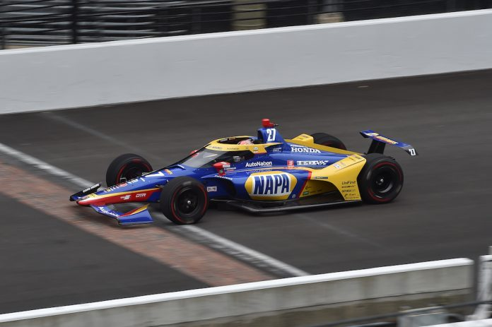 Alexander Rossi testing Friday at Indianapolis Motor Speedway. (IndyCar photo)